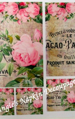 Decoupage Papers A4 Size Set 1 1010_2.00